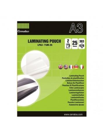 Cerratus Διαφάνειες Πλαστικοποίησης Α3 75 mic 25 pcs