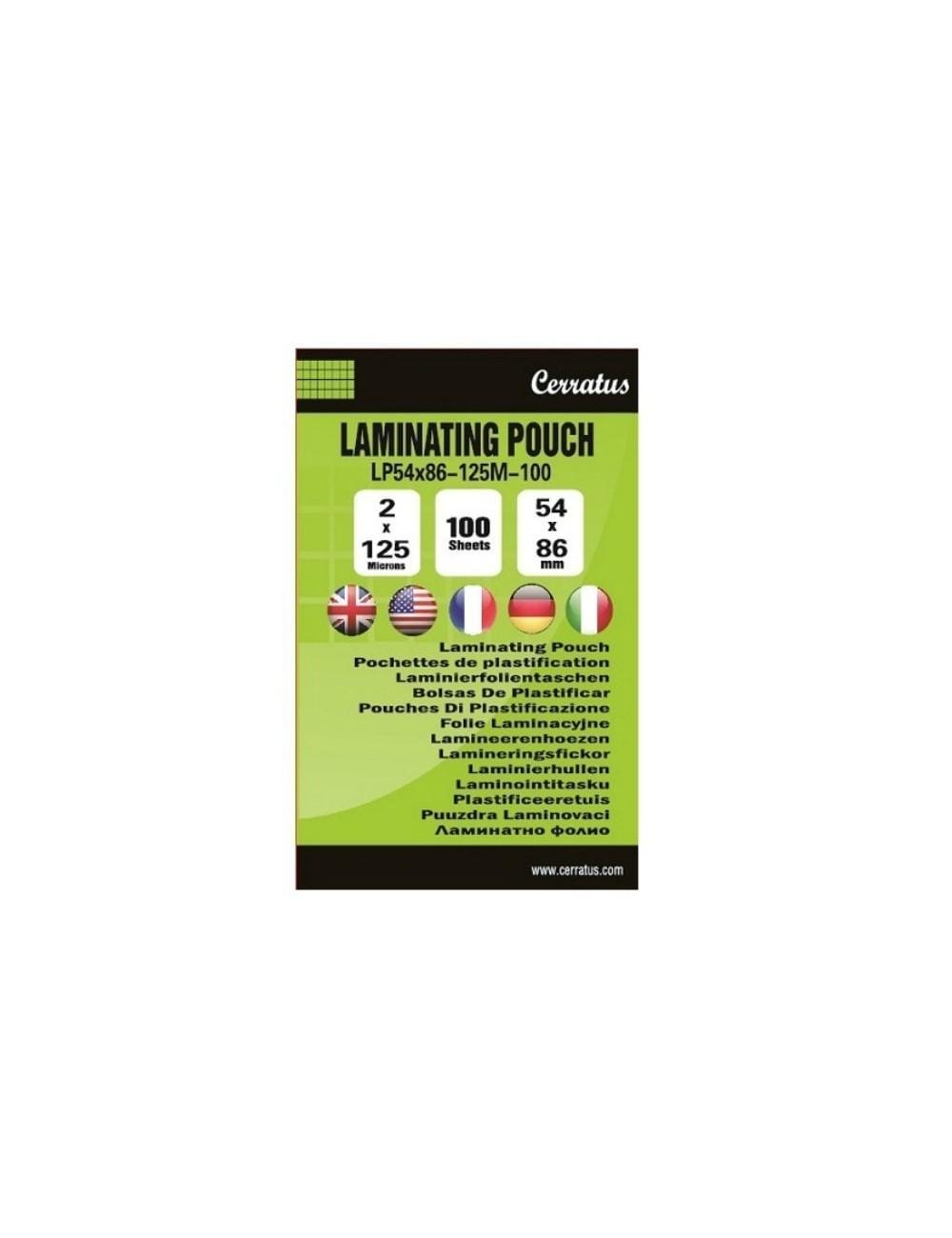 Διαφάνειες πλαστικοποίησης BUSINESS CARDS-125 mic 100 pcs