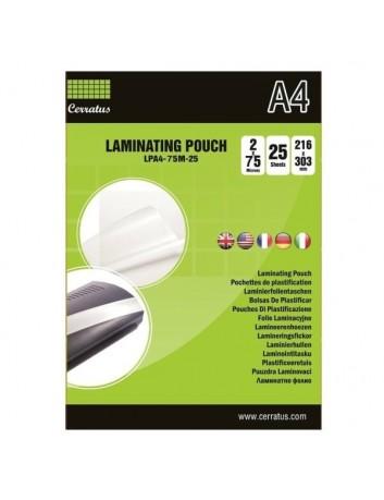 Διαφάνειες πλαστικοποίησης A4-75mic 25pcs