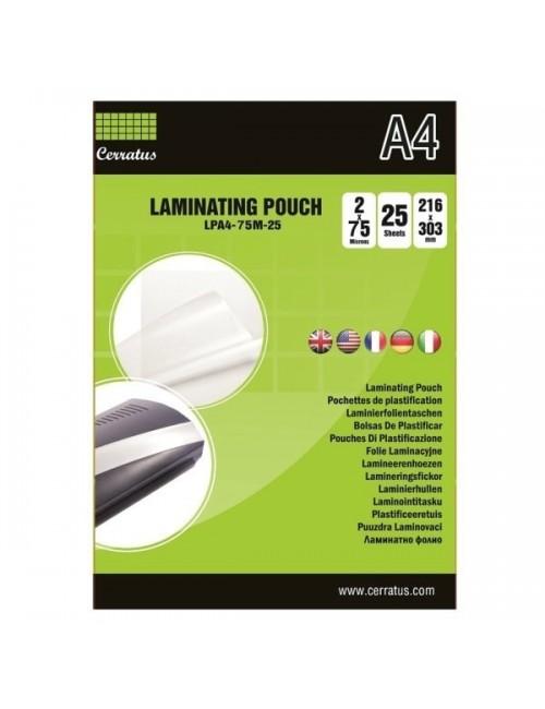 Cerratus Διαφάνειες Πλαστικοποίησης A4 75mic 25pcs