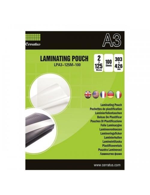 Cerratus Διαφάνειες Πλαστικοποίησης Α3 125 mic 100 pcs