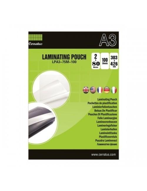 Cerratus Διαφάνειες Πλαστικοποίησης Α3 80 mic 25 pcs