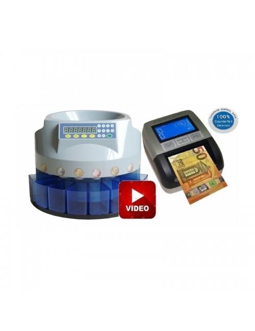 Καταμετρητής & Διαχωριστής Κερμάτων CS 280 με Ανιχνευτή & Καταμετρητή Χαρτονομισμάτων ΕC330 100%ECB