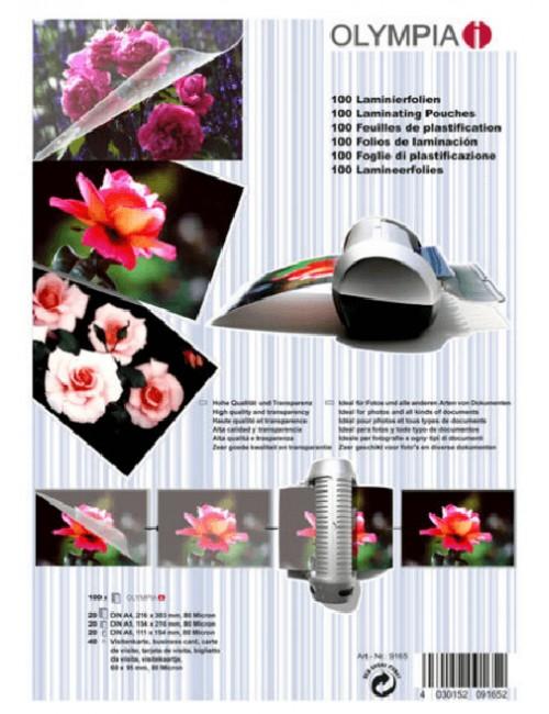 Σετ διαφανειών, ζελατινών,φύλλων πλαστικοποίησης Olympia 80MIC