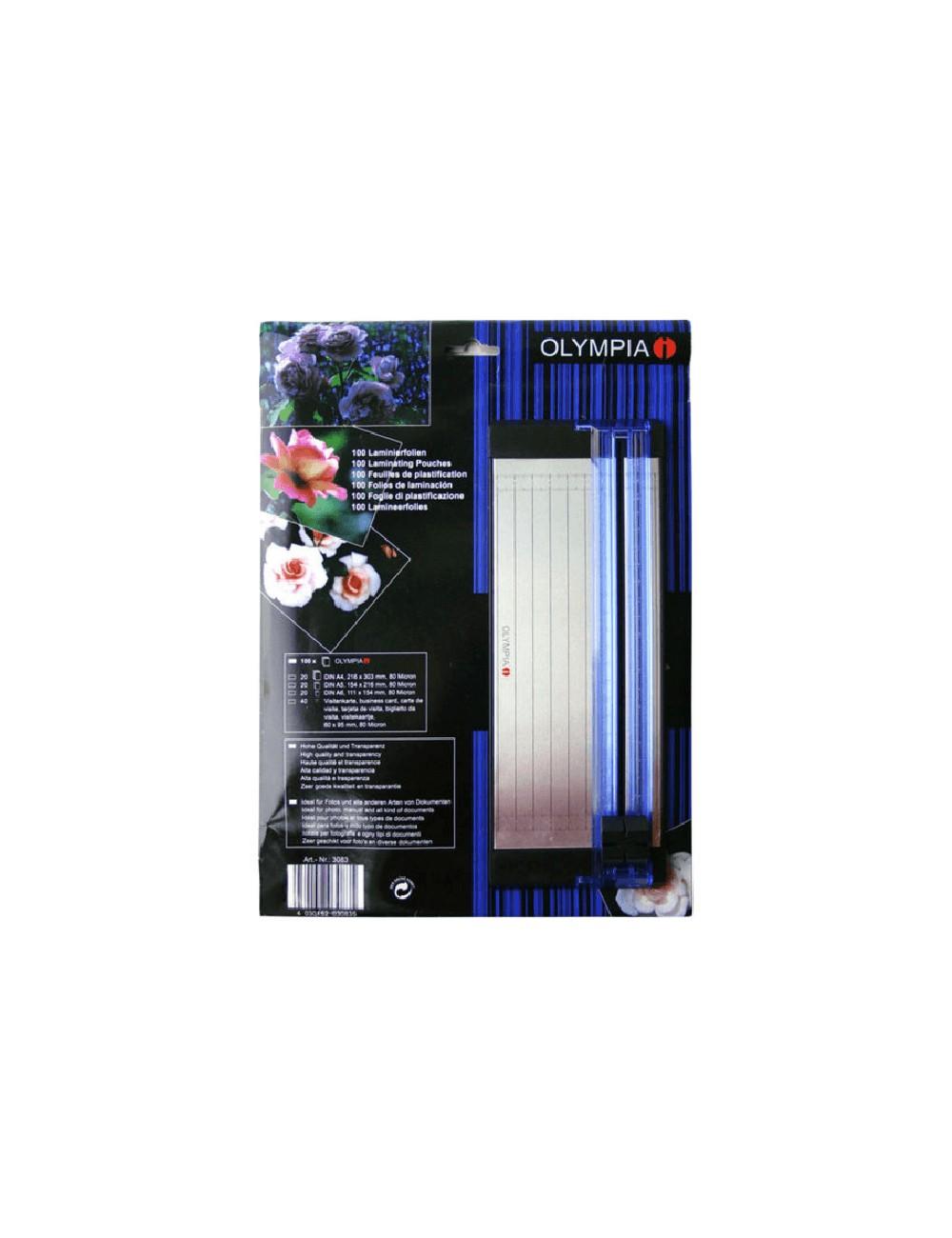 Σετ διαφανειών,ζελατίνες πλαστικοποίησης & Κοπτικό Olympia Α4/Α5/Α6 Επαγγελματικές κάρτες