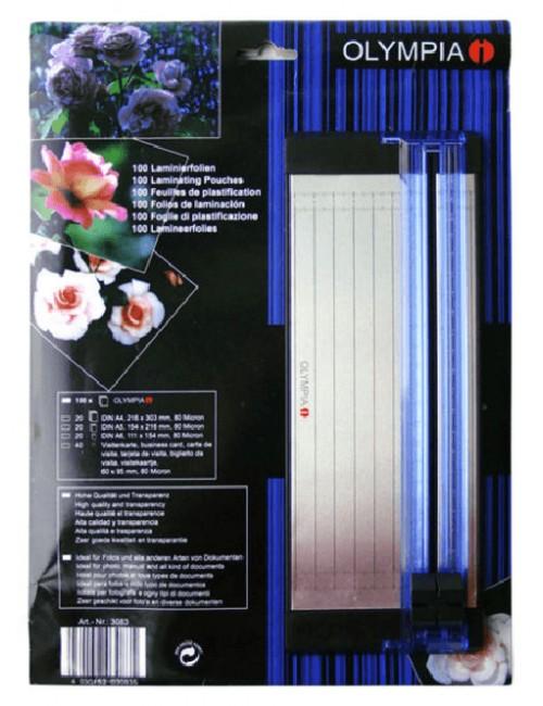 Σετ διαφανειών πλαστικοποίησης & Κοπτικό Olympia Α4/Α5/Α6 Επαγγελματικές κάρτες