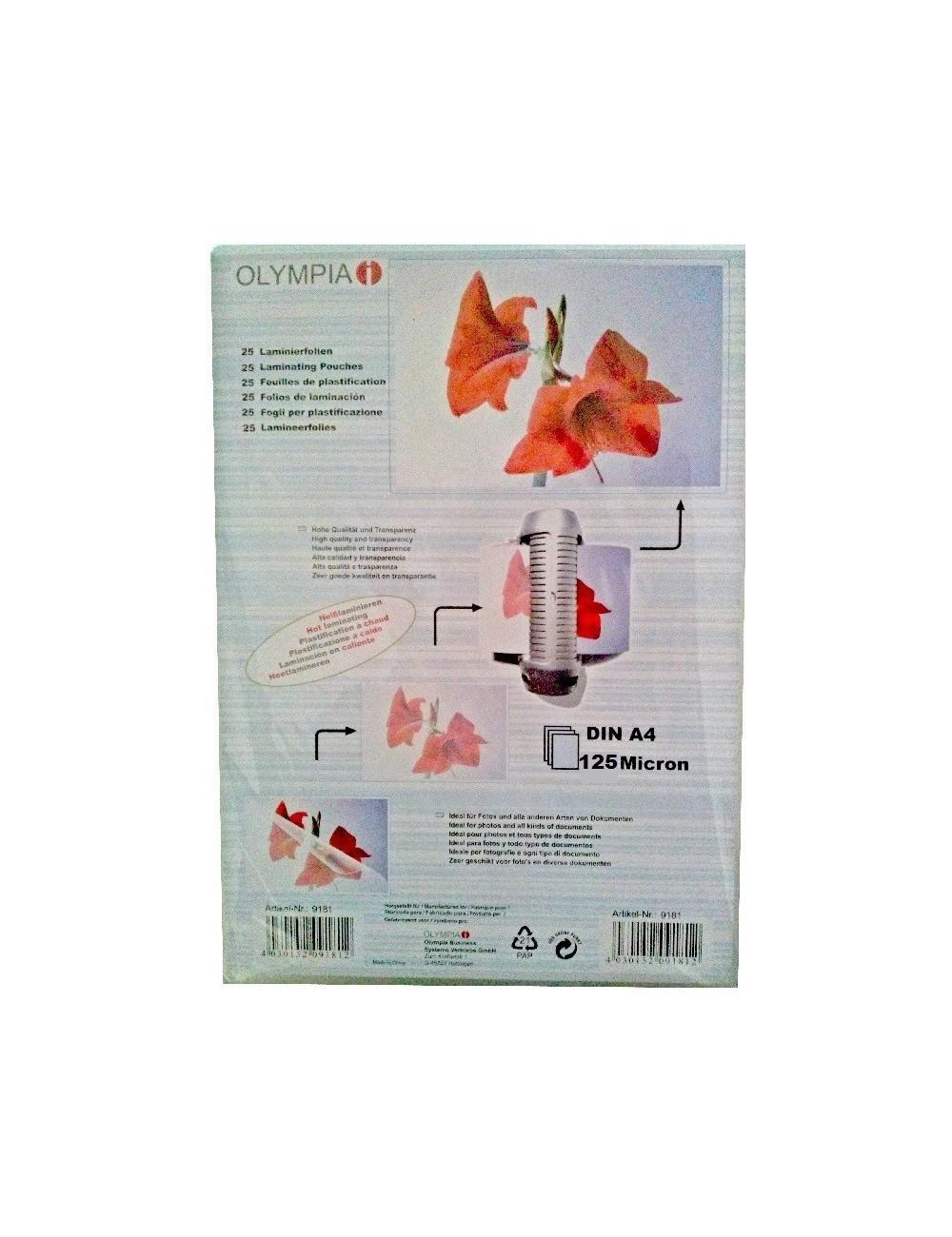 Διαφάνειες πλαστικοποίησης Olympia Α4 125MIC 25 PCS