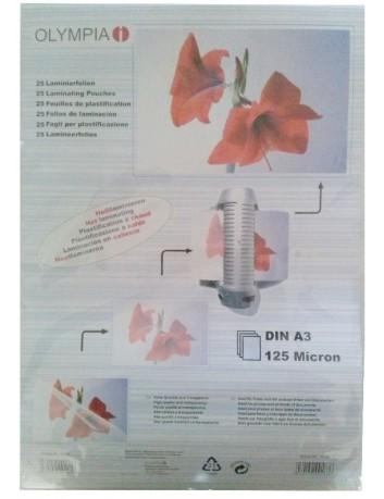 Διαφάνειες,ζελατίνες,φύλλα πλαστικοποίησης Olympia Α3 125MIC 25 PCS