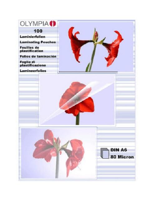 Διαφάνειες,ζελατίνες, φύλλα πλαστικοποίησης Α6 80mic.