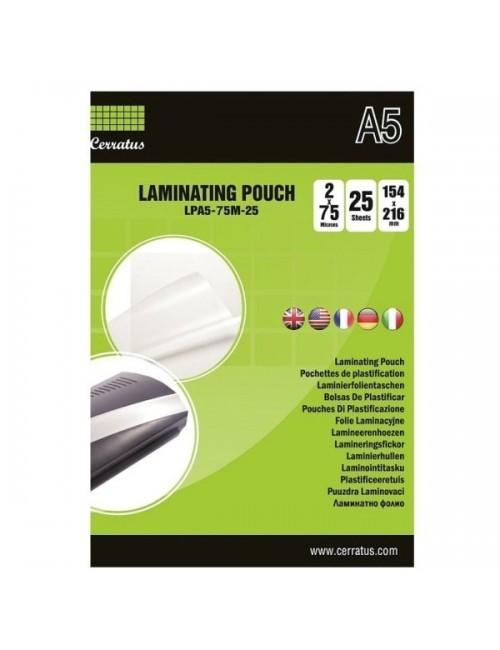 Cerratus Διαφάνειες Πλαστικοποίησης Α5 75 mic 25 pcs
