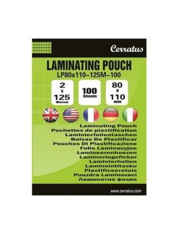 Cerratus Διαφάνειες,Ζελατίνες,Φύλλα Πλαστικοποίησης Buisness card A7 (80x110mm) 125mic-100τεμ