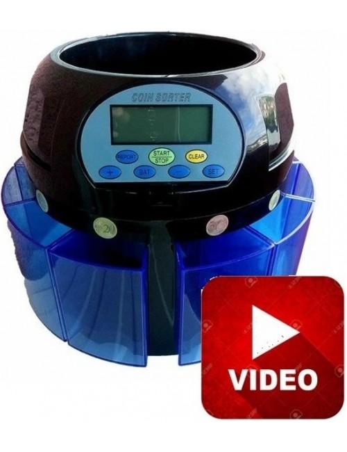 Καταμετρητής Διαχωριστής Κερμάτων PCD 650, Δώρο 2 στυλό ανίχνευσης πλαστών χαρτονομισμάτων
