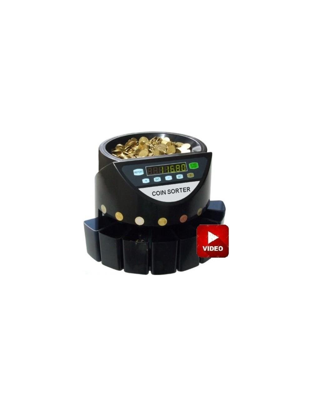 Καταμετρητής & Διαχωριστής Κερμάτων PCD 270,Δώρο 2 Στυλό Ανίχνευσης Πλαστών Χαρτονομισμάτων