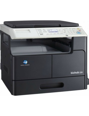 Konica Minolta BIZHUB 226 με 2 τόνερ, DF-625 (document feeder), AD-509 (duplex unit), NC-509 (network card)